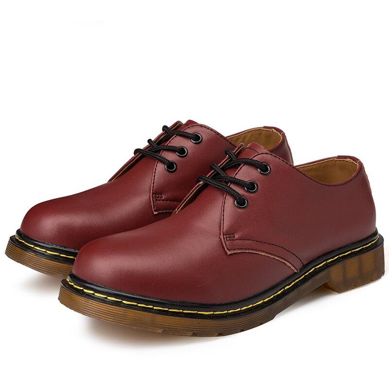 0d2060c635502 De La Doc Cuir marron Hommes Martens Militaires En Chaussure Chaussures  Nouveau Martins Noir Bottes Travail ...