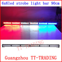 Police Strobe Lights 36 LED Flash Warning light bar emergency strobe lights for truck DC 12V 90cm 35inch