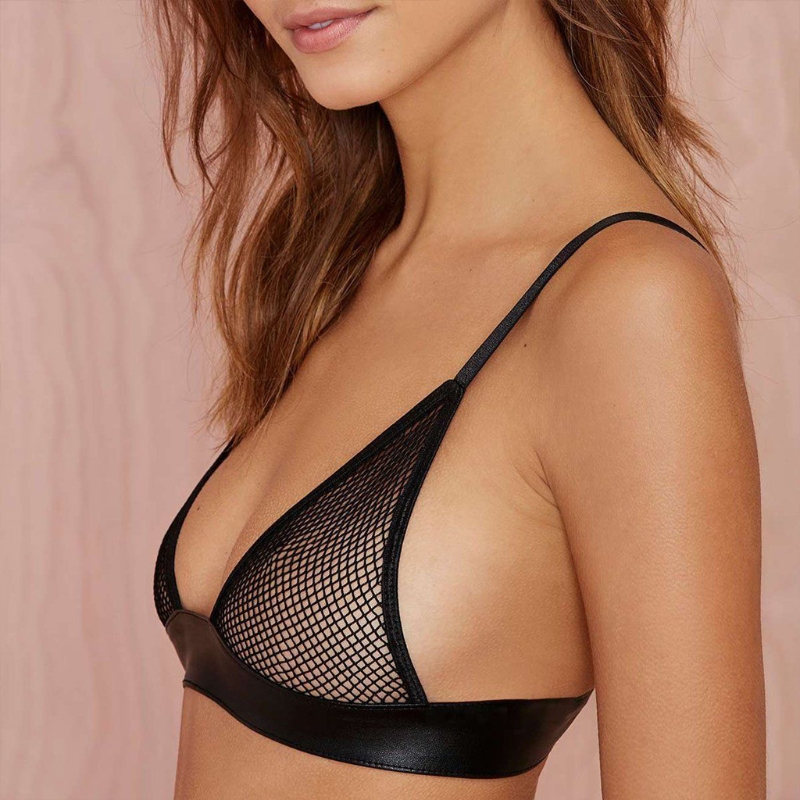 <font><b>2018</b></font> New <font><b>Sexy</b></font> Women <font><b>Lace</b></font> <font><b>Bralette</b></font> <font><b>Bra</b></font> Floral <font><b>Bralette</b></font> Bralet <font><b>Bra</b></font> Bustier See through Strappy Crop <font><b>Top</b></font> Cami Unpadded Tank image