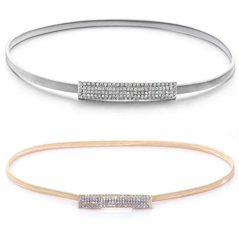 Women's Belts Fashion Western Vintage Belt Sequined Metal Belt For Women Ladies Mirror Decoration Dress Belt Wild Gold Dress W4 Sale Price