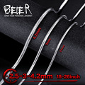Beier stainless steel necklace 2.5mm/3mm/4.2mm trendy snake chain necklace boy man necklace chain Silver Color  BN1004