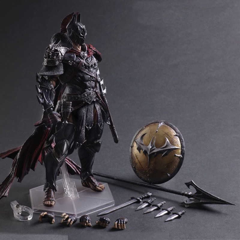 Play arts Spartans Batman v Superman Dawn of Justice Arkham Knight Batman DC PVC 27CM Action Figure Collection Model Toy saintgi batman v superman dawn of justice man of steel dc superman doll super heroes pvc 23cm action figure collection model kid