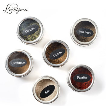 Magnetic Spice Tins Stainless Steel Spice Jar 1