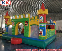CE 8x6m Commercial cartoon paradise inflatable bouncer castle for kids