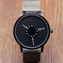 Hombres de negocios de moda relojes de cuarzo ocasional banda de malla de acero inoxidable reloj MUJERES hombre luminoso reloj de vestir para hombre