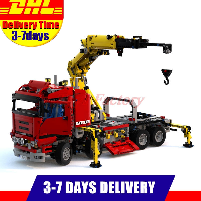 Lepin 20013 New 1877pcs Technic Ultimate Mechanical Series The Electric Crane Truck Set Building Blocks Bricks Toys 8258 new lepin 20013 technic series 1877pcs the electric crane truck model building blocks bricks compatible 8258 toy christmas gift