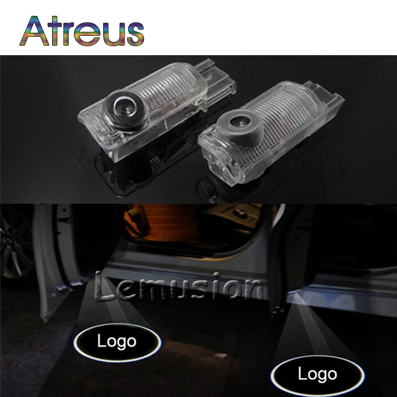 Atreus 2X LED Courtesy Lamp Car Door Welcome Light For Mercedes R W215 W164 R300 R350 ML300 ML350 ML400 GL X164 Benz Accessories door mirror turn signal light for mercedes benz w163 ml270 ml230 ml320 ml400 ml350 ml500 ml430 ml55