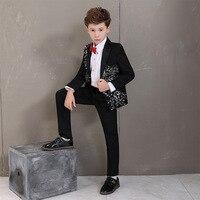 47da64157 Kids School Flowers Boys Lapel Wedding Suits Boys Formal Suits Kids Blazer  Gentlemen Suit Boys Embroidery