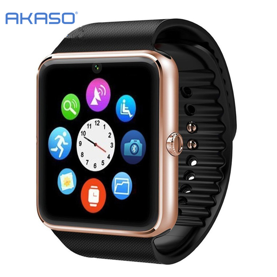 Dropshipping Smart Watches GT08 Bluetooth Connectivity for iPhone Android Phone Smart Electronics with Sim Card Push