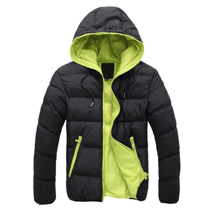 2017 New Winter Jacket Men Thick Warm Hooded Coat Casual Cotton Padded Jacket Zipper Slim Coats Male Parkas Hombre Invierno мужской пуховик al men s padded jacket winter warm hooded jacket