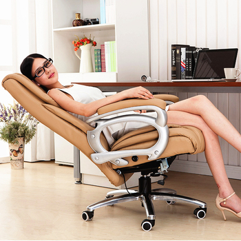 Super Soft Modern Household Office Chair Leisure Lying Lifting Boss Chair Ergonomic Swivel Computer Boss Chair luxurious and comfortable office chair at the boss computer chair flat multifunction chair capable of rotating and lifting