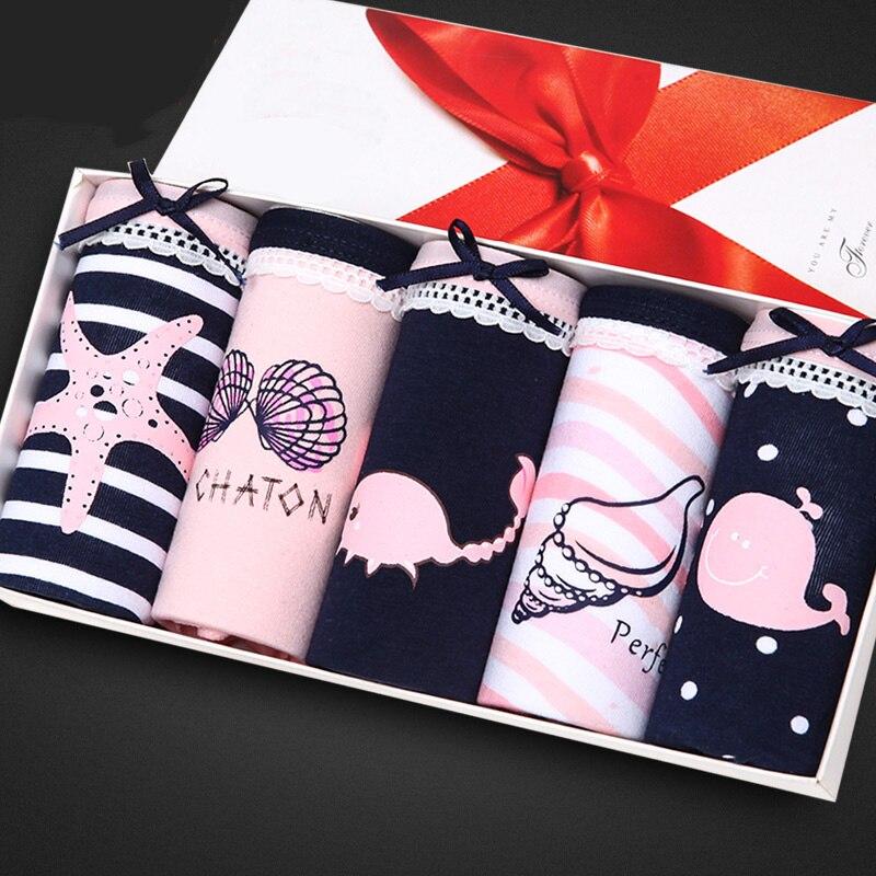 Feilibin 5pcs/lot Panties WomenUnderwear Cotton Comfort Seamless Girls Love..