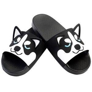 Image 3 - Women Girls Slide Sandals Cartoon Dog Cat Summer Animal Beach Slippers Platform Slides Shoes Ladies Soft Sole Flip Flops