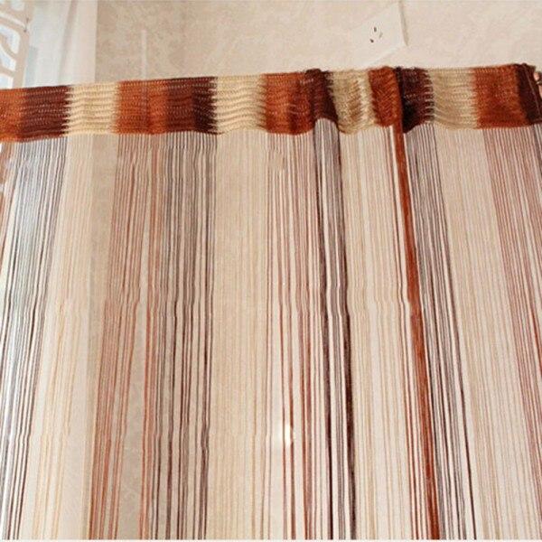 1Mx2M Window Curtain Line String Tassel Door Room Divider Scarf Valance Door Window Screens Home Decoration