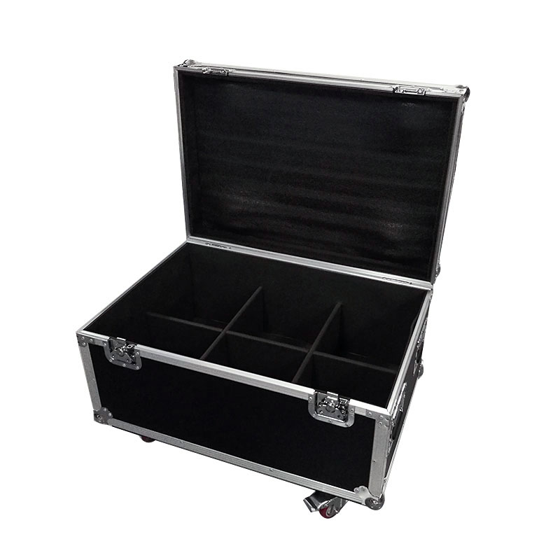 Flight Case With 6 Pieces LED Par 18x18 6in1 RGBWA+UV Lighting Aluminum Housing Exterior Housing For professional stage & djFlight Case With 6 Pieces LED Par 18x18 6in1 RGBWA+UV Lighting Aluminum Housing Exterior Housing For professional stage & dj