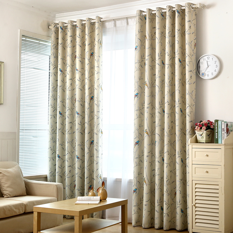 Aliexpress Buy 2016 New Arrival 1PC Blue Bird Printed Window Curtains For The Bedroom Fancy Children Modern Living Room Kids From