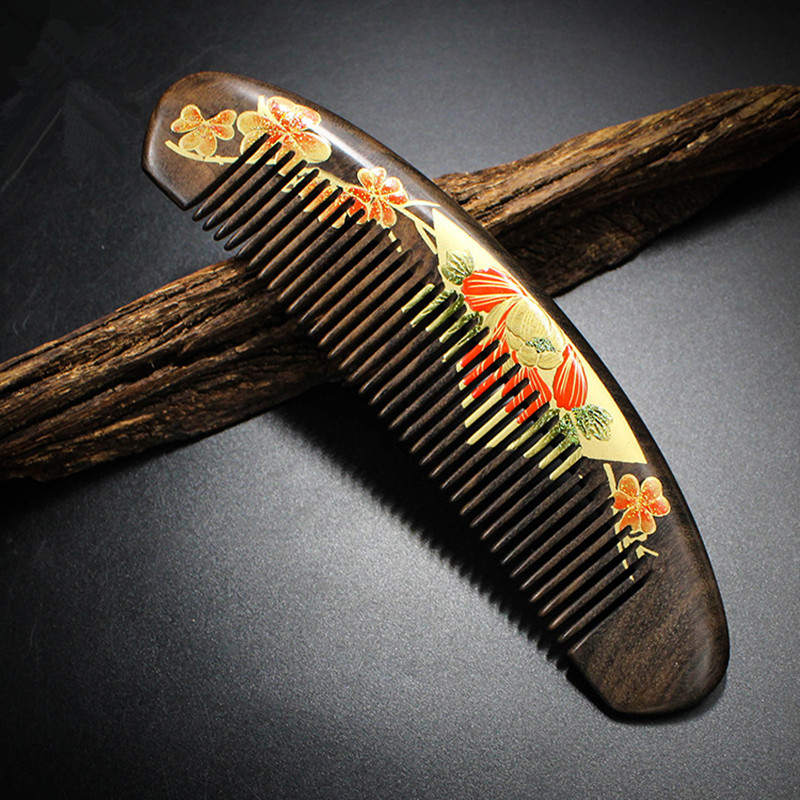 2018 New Arrival Hairbrush Hair Care Hight Quality Real Chacate Preto And Horn Comb Health Styling Tools Brushes Best Gift