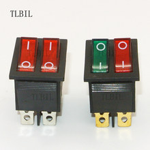 KCD2 Double Boat Rocker Switch 6 Pin On-Off With Red Green Light 20A 125V 0269ca0eee5
