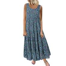 JAYCOSIN – robe longue sans manches pour femmes, imprimé Floral quotidien, nouvelle collection été 2019, 19jun24