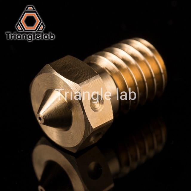 trianglelab Top quality V6 Nozzle for 3D printers hotend 4pcs/lot 3D printer nozzle for E3D hotend titan extruder prusa i3 mk3 2