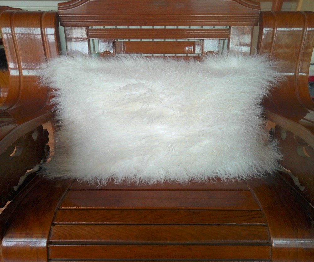 Mongolian Fur Chair Us 97 76 53 Off 2016 White Mongolian Lamb Fur Pillow Cover Pillowcase Chair Covers Fur Cushion Cover Decorative Throw Pillow Covers Square In