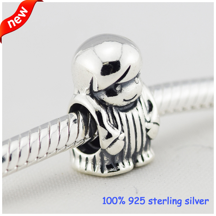 Fits Pandora Bracelets Boy Silver Beads Summer Style Newest Original 100% 925 Sterling Silver Charms DIY Wholesale