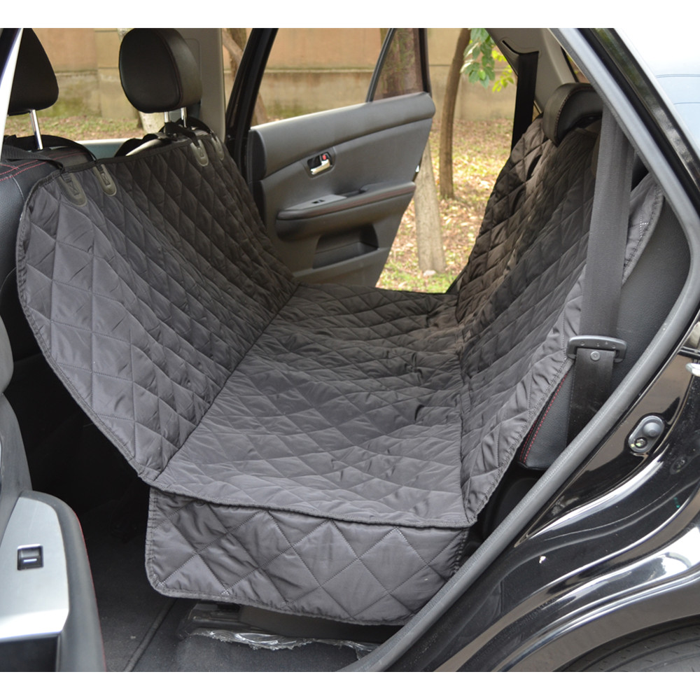 Waterproof Quilted TPU Dog Car Rear Seat Cover Machine Washable Back