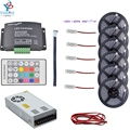 5m~30m 5050 rgbw rgbww(4 in 1)led strip light+1set music led controller+rgbw led amplifier+12v led power adapter+2pin led wire