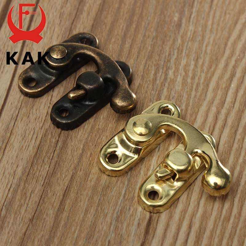 KAK Antique Metal Lock Mini Decorative Hasps Hook for Gift Wooden Jewelry Box Padlock with Screws ZAKKA Box Hardware Home Decor