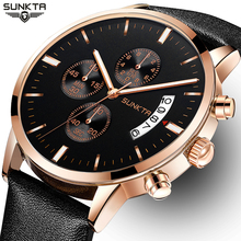 SUNKTA Men's Watches Top Brand Luxury Men's Military Sport Glowing Watches Business Quartz Watch Men's Clock Relogio Masculino