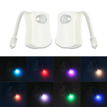 8 Colors LED Motion Sensor Toilet Night Light Battery-Operated Colorful Bathroom Activated PIR Light Decorative Lamp IY303104