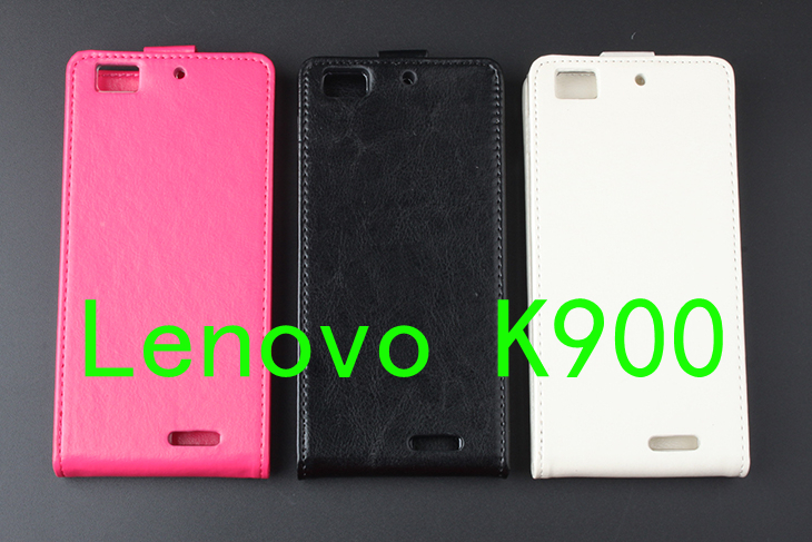 Hot! For Lenovo K900 High Quality New Original  Leather Case Flip Cover for Lenovo Cases K900 Phone Cover In Stock Free Shipping