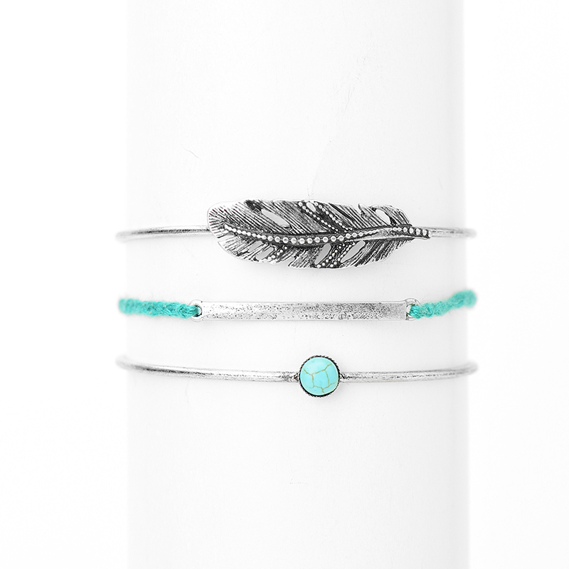 Bracelets & Bangles Blue Stone Long Pendant Bangle