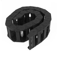 Máquina Herramienta 25x77mm Negro Wire Cable Carrier Drag Chain Anidada