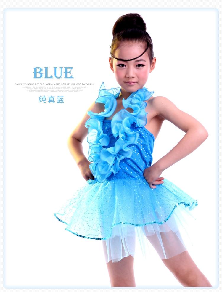 Latin Dance Dress Children Kids Latin Competition Girls Dance Costumes For Cha Cha/Rumba/Samba/Ballet green yellow blue red pink