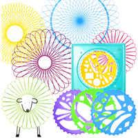 Spirograph set Ziehen Spirale Designs Verriegelung Gears & Räder 5 stücke mit stift, kreative farbe spielzeug Für Erwachsene und Kinder zeichnung spielzeug