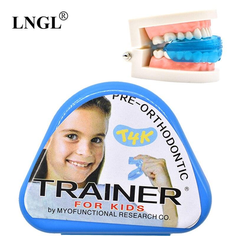 1 pc T4K Crianças Dente Dental Ortodontia Appliance Instrutor de Alinhamento Das Crianças Suspensórios Porta-vozes de Dentes Retos Dente Cuidados