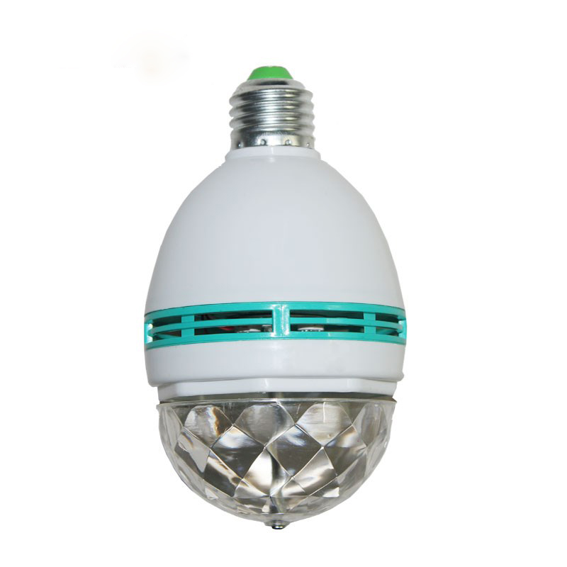Led Mini Stage Light E27 AC Magic Crystal Ball Lamp 3W Light Christmas Dance Party Lantern Projector