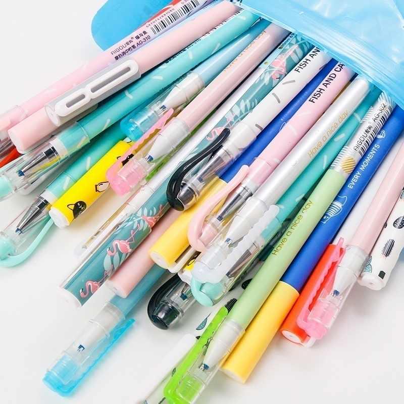 20pcs erasable GEL ปากกา Kawaii เครื่องเขียนเกาหลีดอกไม้ของขวัญ Office วัสดุอุปกรณ์โรงเรียน