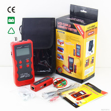 Original Cable Length Tester Emitter NF-868A LCD English Version lan tracker finding