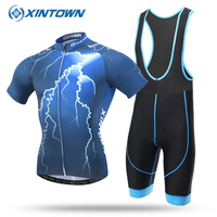 2017 Team Pro Cycling Jersey Lightning Bicycle Shirts Gel Bike 100 Polyester Quick Dry Roupa Ciclismo