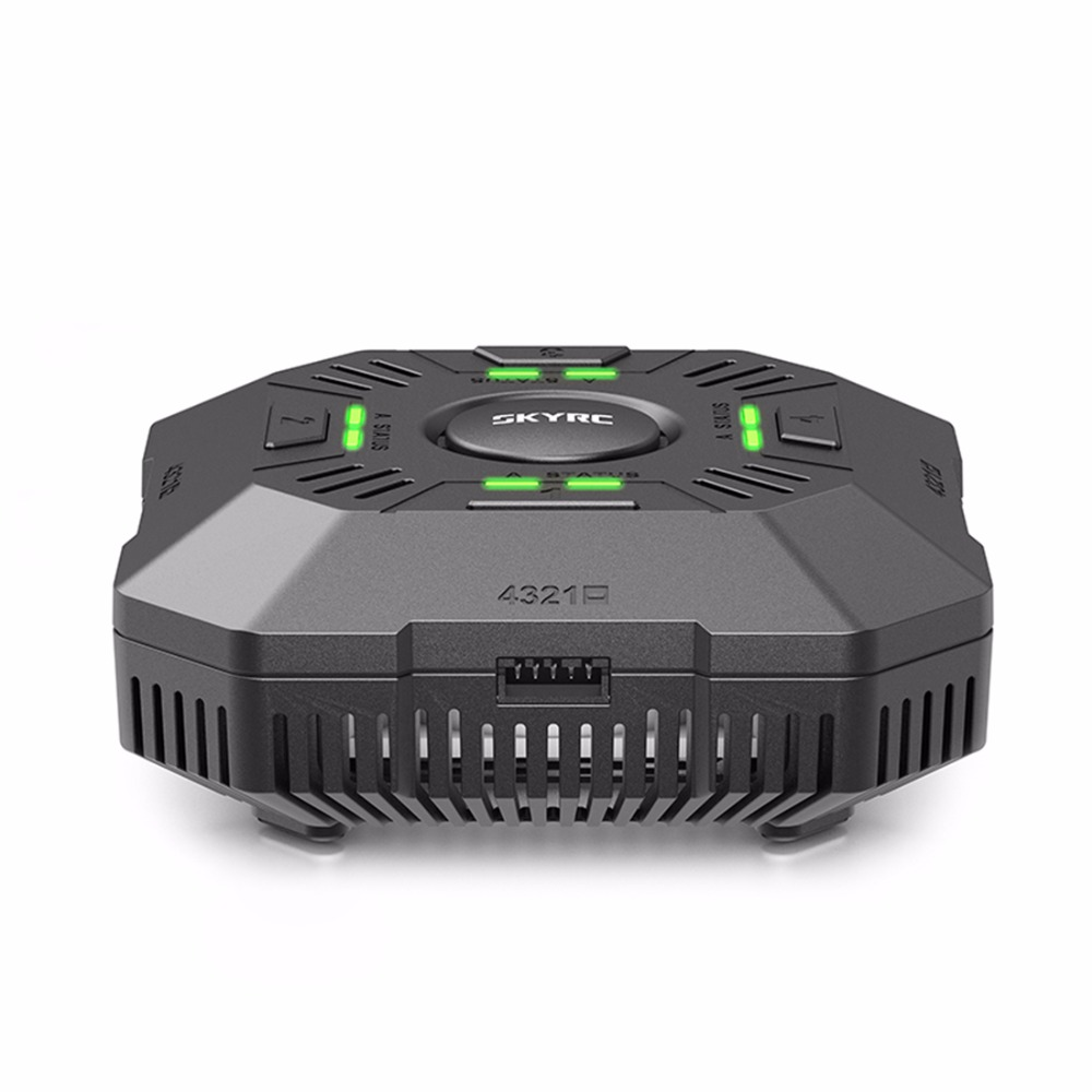 E4Q DC Multi Charger 4ports 2S 3S 4S LiPo Battery Smart Balance Charger with XT60 Connector