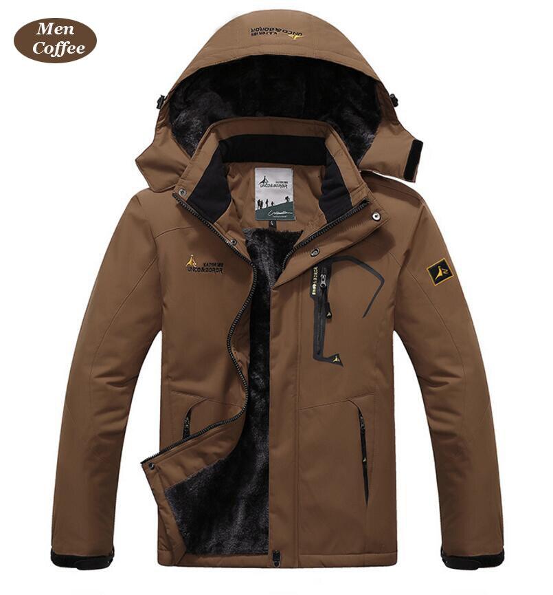 UNCO&BOROR winter jackets men women`s outwear fleece thick warm cotton down coat waterproof windproof parka men brand clothing 12