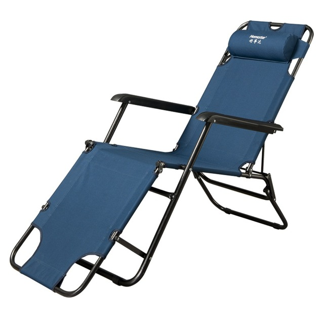 High Quality Portable Sun Loungers Outdoor Camping Folding Easy Beach Chair Bed Adjustable Angle Breathable Balcony Furniture