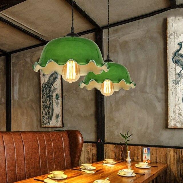 Chinese stijl Led Glas Hanglamp, Creatieve Retro eetkamer woonkamer ...
