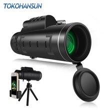 TOKOHANSUN 40X зум Монокуляр мобильный телефон телескоп объектив 40×60 для Iphone Xiaomi смартфонов Объективы фотоаппаратов Открытый Охота