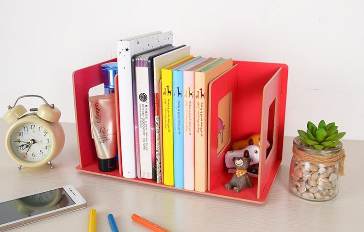 Nieuwe creatieve kleurrijke houten diy multifunctionele boek stand