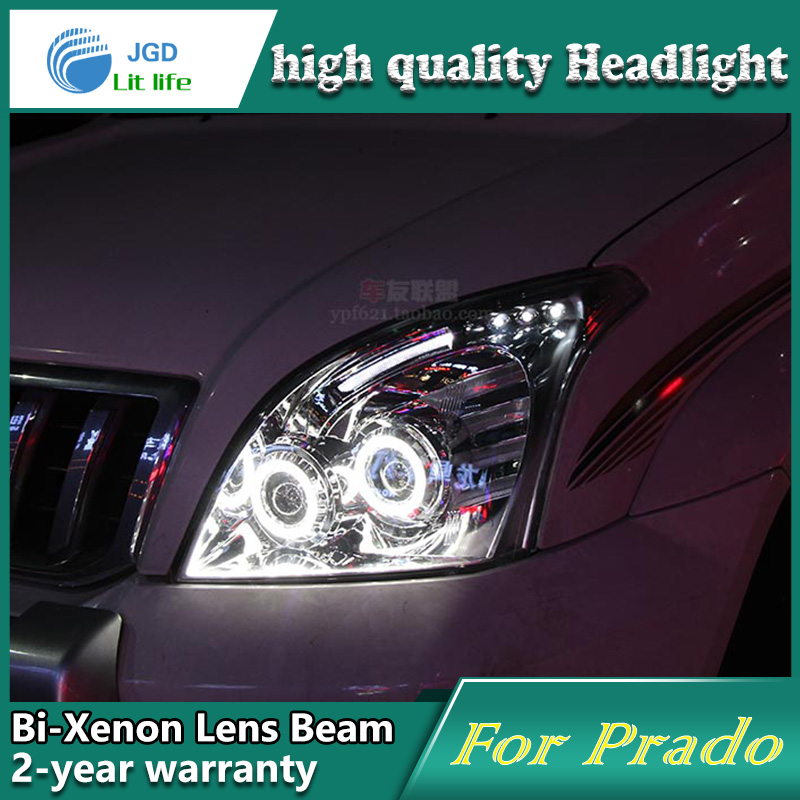 Car Styling Head Lamp case for Toyota Prado 2003-2009 LED Headlights DRL Daytime Running Light Bi-Xenon HID Accessories special car trunk mats for toyota all models corolla camry rav4 auris prius yalis avensis 2014 accessories car styling auto