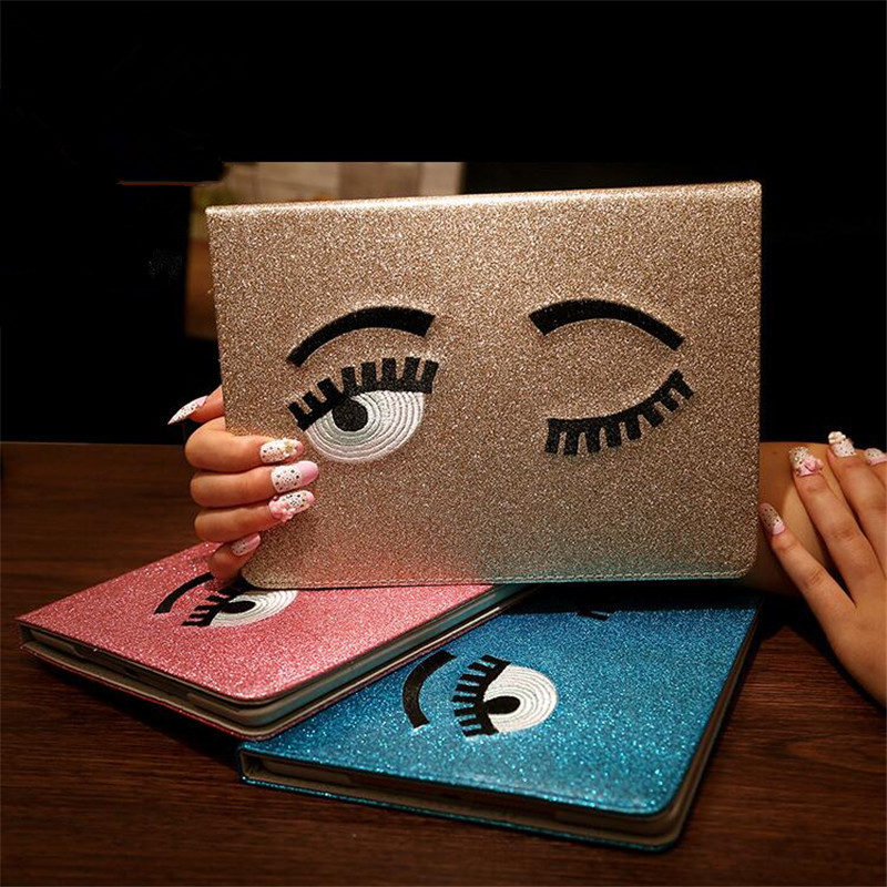 Luxury Stand Smart Case For Apple Pad mini Tablet Cover Shining PU Leather Big Eyes Plate Stand Case For Apple Ipad mini 1 2 3