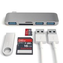 EASYA 5 en 1 Thunderbolt 3 adaptateur USB Type C Hub Dock Dongle avec TF SD lecteur de carte USB 3.0 pour MacBook Pro/Air USB C